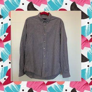 ZARA Shirt Plaid Blue White